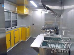 New 8 5 X 18 Enclosed Mobile Kitchen Tail Gate Food Vending Concession Trailer