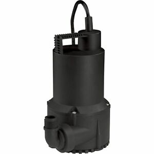 Wayne Thermoplastic Submersible Utility Pump 3000 Gph 1 6 Hp 3 4in rup160