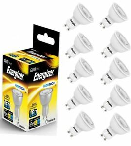 20 X Energizer Gu10 Led Light Bulb 345lm Spot 5 7w 50w Warm White 36 Dimmable