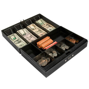 Barska Large Cash Box Safe W 4 Bill Holder And Combination Lock Cb11794
