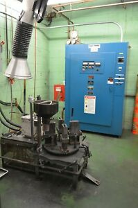 Ajax Tocco 50kw Induction Melter With Melting Pot Rotary Mould Table