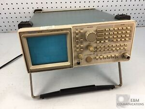 2712 Tektronix Spectrum Analyzer 9khz To 1 8ghz For Repair parts No Rear Bumper