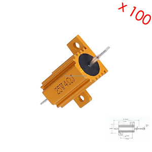 100x Gold Tone Car Load Resistor Led Hyper Fast Blink 25w 4 Z2995