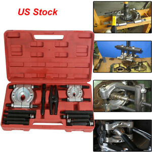 12pcs Bearing Separator Puller Set 2 3 Splitters Remove Bearings Kit Us H1