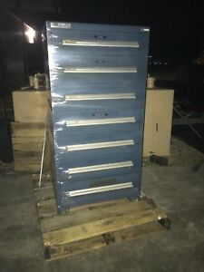 Blue Vidmar 7 Drawer Tool Cabinet Automotive Equipment Storage Container