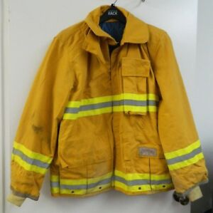 Fyrepel Firefighter Jacket Turnout Gear Bunker Fire Yellow Halloween X large