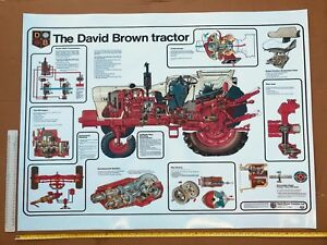 David Brown Case Poster Tractor And Various Parts Cut Through A0 A3