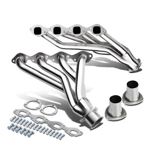 2pcs Stainless Shorty Exhaust Header Manifold For 65 73 Chevy gm Bbc V8 366 454