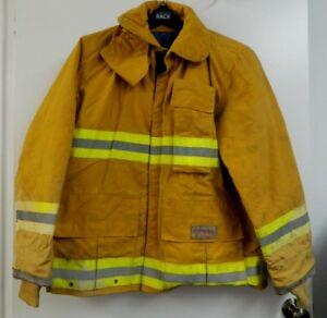Fyrepel Firefighter Turnout Gear Bunker Padded Jacket Yellow Size Large 5