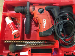 Hilti Te 6 s Hammer Drill With Bits And Case