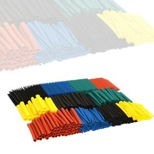 530 Pcs 2 1 Heat Shrink Tubing Tube Sleeving Wrap Cable Wire 5 Color 8 Size Usa