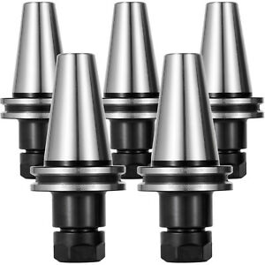 5pc Cat40 Er20 Collet Chucks 2 75 Precision Cnc Holder 20k Rpm Tool Use Easy