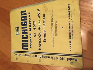 Clark Michigan Shovel Tractor 175 Iii A Wheel Loader Parts Manual Hancock