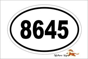 8645 Anti Trump Republican Oval Euro Vinyl Bumper Sticker Decal Label Os 9001
