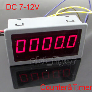 Dc 7 12v 0 56 Red Led Digital Counter Timer Meter Count Multi function