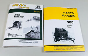 Service Parts Manual Set For John Deere 500 Round Baler Technical Repair Shop