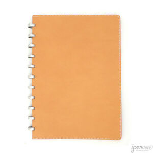 Atoma Pur Disc Notebook Natural Leather A4 210x297 Mm 8 3 X 11 7 Ruled
