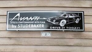 1960 S Studebaker Avanti Classic Motorcar Dealer Sign Revised No V 1 X46