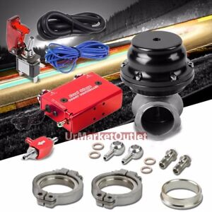 Red Dual Stage Electronic Turbo Charger Boost Control black External Wastegate