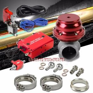 Red Dual Stage Electronic Turbo Charger Boost Control Kit manifold Ext Wastegate