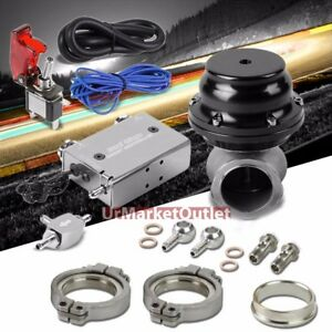 Silver Dual Stage Electronic Mt Turbo Boost Control blk External Wastegate 14psi