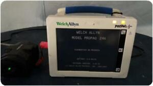 Welch Allyn Propaq Cs 246 Patient Monitor E c g Spo2 Temp Nibp 159612