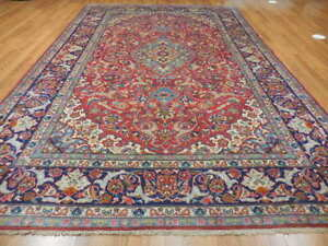 C1940 Antique Persian Naein Nain Isfahan Esfahan Design 7x11 4 Estate Sale Rug