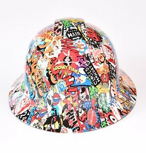 Custom Ridgeline Widebrim Hard Hat Hydro Hydro Dipped In American Sticker Bomb