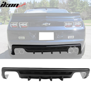 Fit 10 13 Camaro Zl1 Model Only Ikon Style Shark Fins Rear Bumper Diffuser
