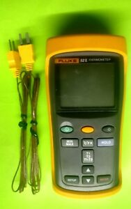 Fluke 52 Ii Dual Input Digital Thermometer With Two 80pk 1 Thermocouples Used