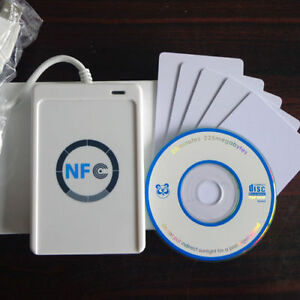 Acr122u Nfc Rfid Contactless Smart Reader Writer usb 5 Mifare Ic Card free Sdk