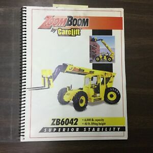 Carelift Zoom Boom Zb6042 Operation Maintenance Manual Book Telescopic Fork Lift