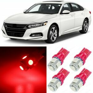 16 X Ultra Red Interior Led Lights Package For 2013 2020 Honda Accord Tool