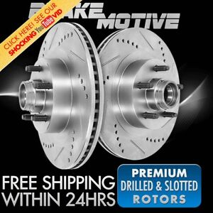 Front Drill Slot Brake Rotors For Dodge Challenger Plymouth Gran Fury Duster