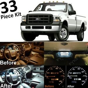 33 White Led Interior Cluster Clearance Lights For 2005 2007 Ford F250 F350