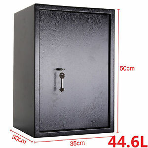 High Security Strong Steel Safes Key Lock Safety Box Home Office Money Cash Safe