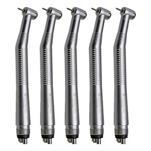 5x Dental High Speed Air Turbine Handpiece Single Water 4h Dentist Clinic Silver