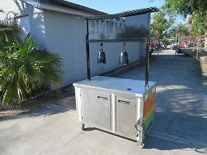 Vending Food Concesion Food Cart Indoor Outdoor Kiosk Buffet Heat Lamps