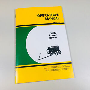 Operators Manual Parts Catalog For John Deere M 20 Power Sickle Bar Mower Owners