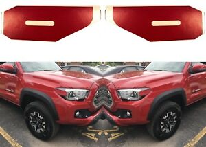 Barcelona Red Vinyl Decals For 2016 2018 Toyota Tacoma Side Marker Lights New