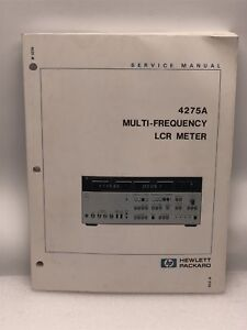Hp 4275a Multi frequency Lcr Meter Service Manual