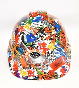 Ridgeline Vented Cap Style Hard Hat Custom Hydrodipped In Uk Speed Sticker Bomb