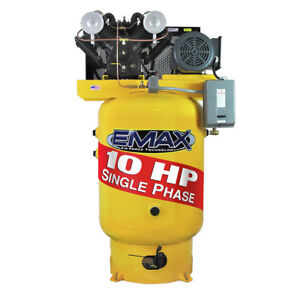 Emax Ep10v080v1 10 Hp 80 Gal Vertical Electric Air Compressor New