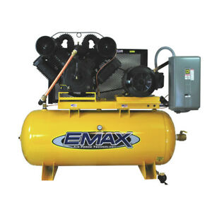 Emax Ep25h120v3 25 Hp 120 Gal Stationary Electric Air Compressor New