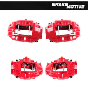 Front Rear Red Powder Coated Brake Calipers Fit Fx50 G37 G37x Q50 350z 370z