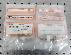 C151645 Lot 10 Itt Pomona 3840 100 Bnc Termination 100ohms 100 1 2w