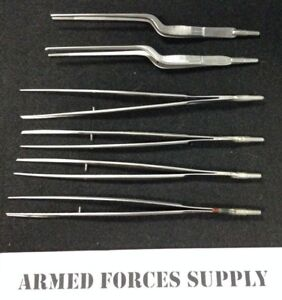 Scanlan Flat Handle Suction Tip Forceps Surgical Instruments
