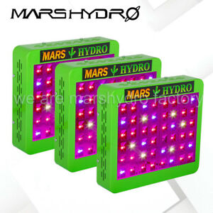 3pcs Mars Hydro Reflector 240w Led Grow Lights Full Spectrum For Indoor Plants