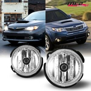 For 2009 2013 Subaru Forester Pair Oe Factory Fit Fog Light Bumper Clear Lens