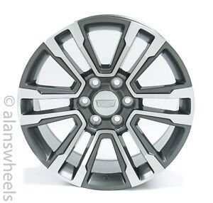 4 New Cadillac Escalade Ext Esv Gray Machined Face 20 Wheels Rims Lug Nuts 5822